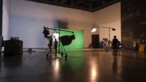 green screen used in filming productions